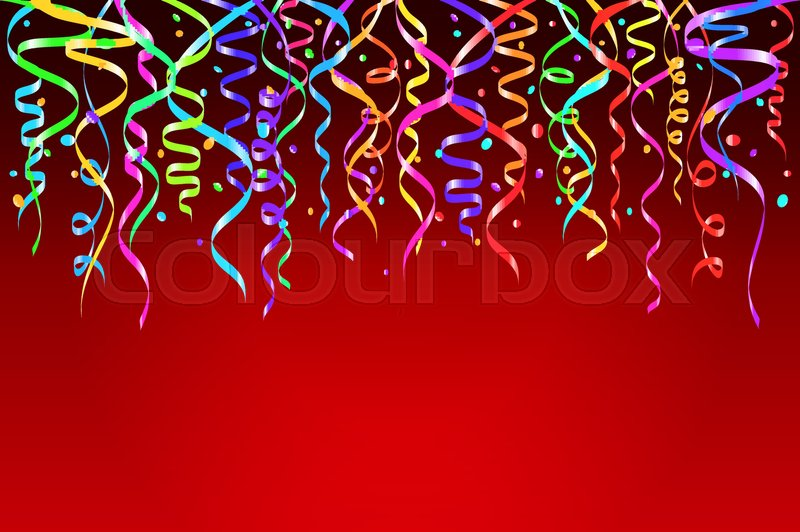 vector illustration of colorful confetti decoration for design