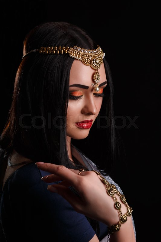 1849763d98 Beautiful young indian woman in ... | Stock image | Colourbox