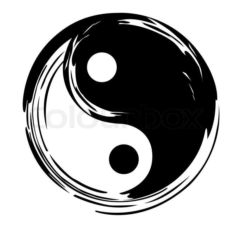 Yin Yang Vector Symbol Stock Vector Colourbox