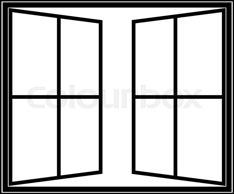 Window Linear Icon Vector Symbol Or Logo Stock Vector Colourbox