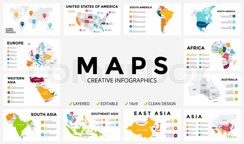 us map infographic template