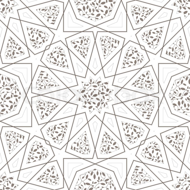 Lovely Classic Islamic Seamless Pattern. Vector Illustration Arabic | Stock Vector  | Colourbox