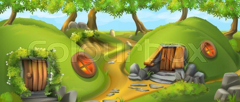 Fairy Tale Village Leprechaun House Nature Landscape