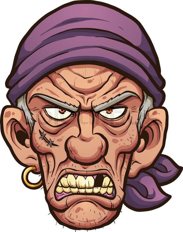 angry cartoon pirate face vector clip art illustration with simple rh colourbox com angry cartoon face pictures angry cartoon face images