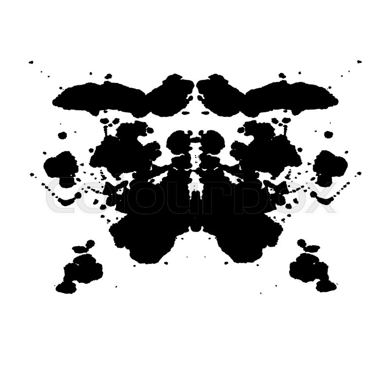 Rorschach Inkblot Test Illustration, ...