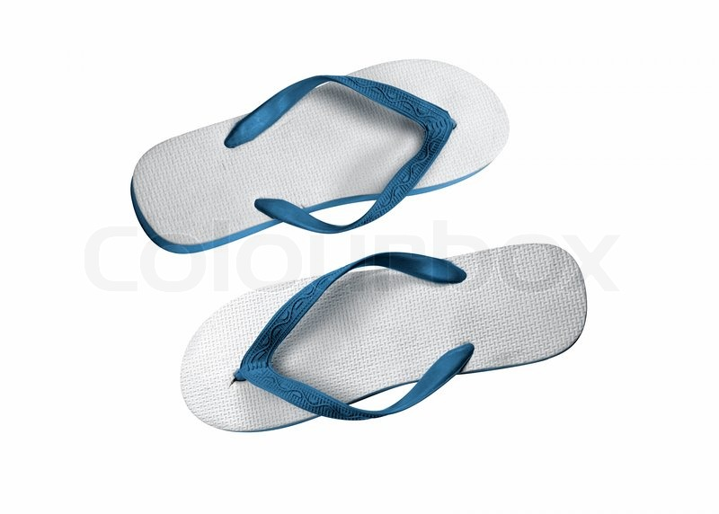 40d0bd789e1d A pair of flip-flops isolated on a ...