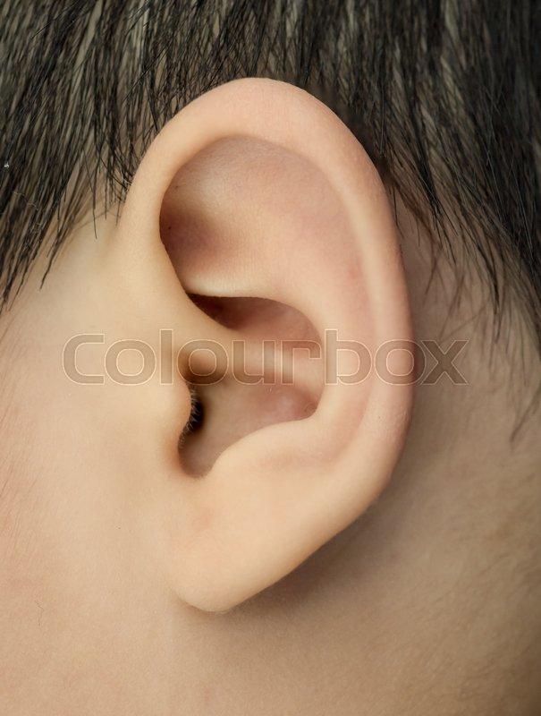 Close up of baby ear, stock photo