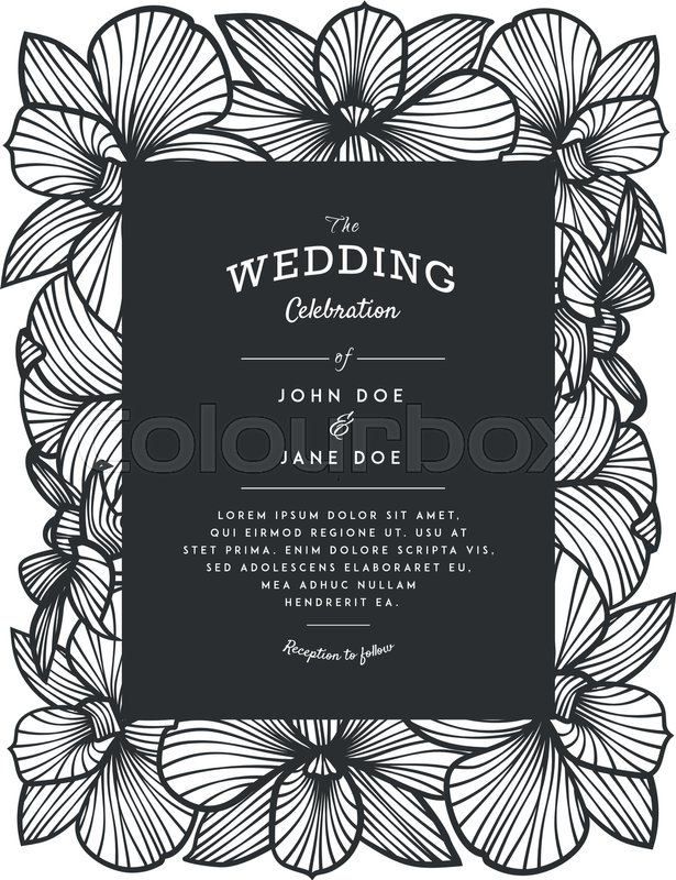 Laser cut vector wedding invitation with orchid flowers for stock vector of laser cut vector wedding invitation with orchid flowers for decorative panel stopboris Choice Image