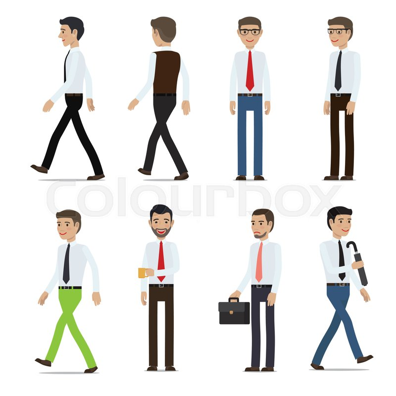 businessmen cartoon characters collection men in business casual