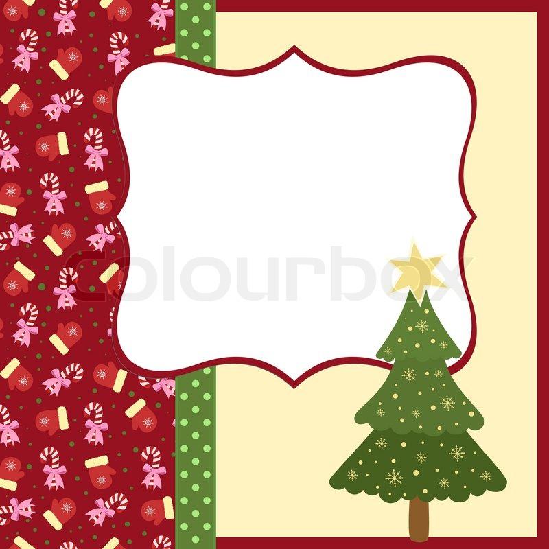 Blank Template für Weihnachtsgrüße Karte, Postkarte oder Fotorahmen ...
