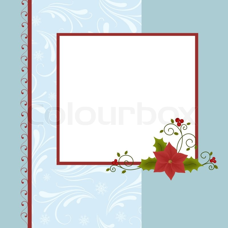 Blank template for christmas greetings card postcard or photo farme blank template for christmas greetings card postcard or photo farme stock vector colourbox m4hsunfo
