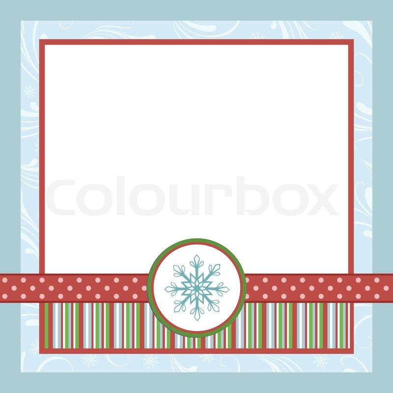 Blank template for Christmas greetings card, postcard or ...