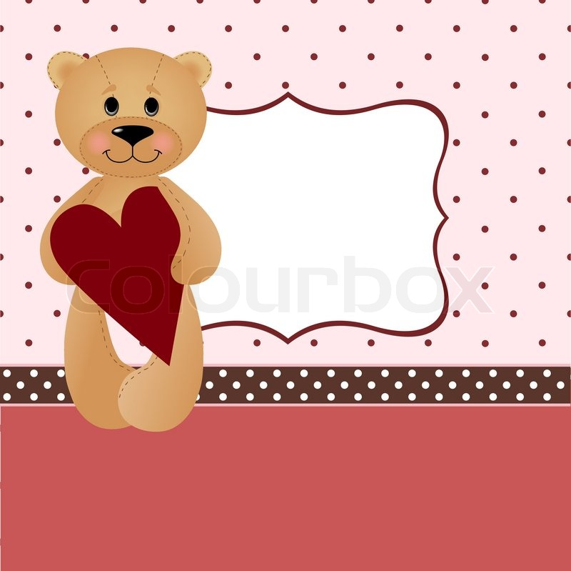 Template for Valentine or Wedding greetings card or postcard – Template for Valentine Card