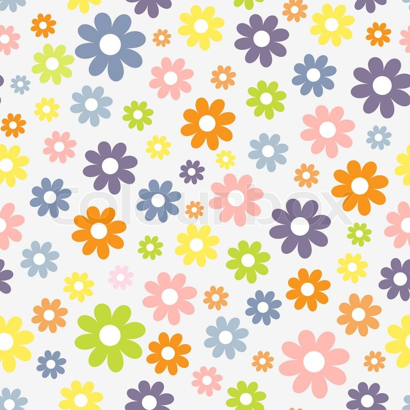 cute seamless pattern with spring theme stock vector colourbox