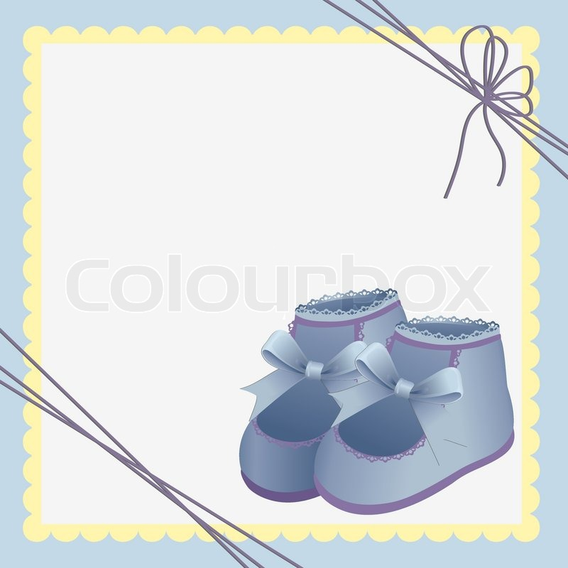 Cute Template For Baby Arrival Stock Vector Colourbox
