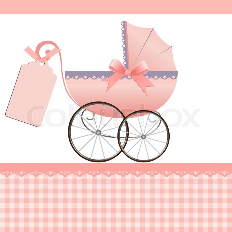 Cute Template For Baby Arrival Announcement Card Stock Vector - Free printable baby cards templates
