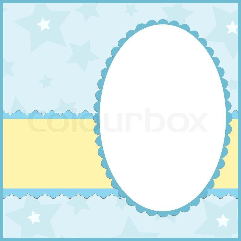 Blank template for greetings card or ... | Stock Vector ...