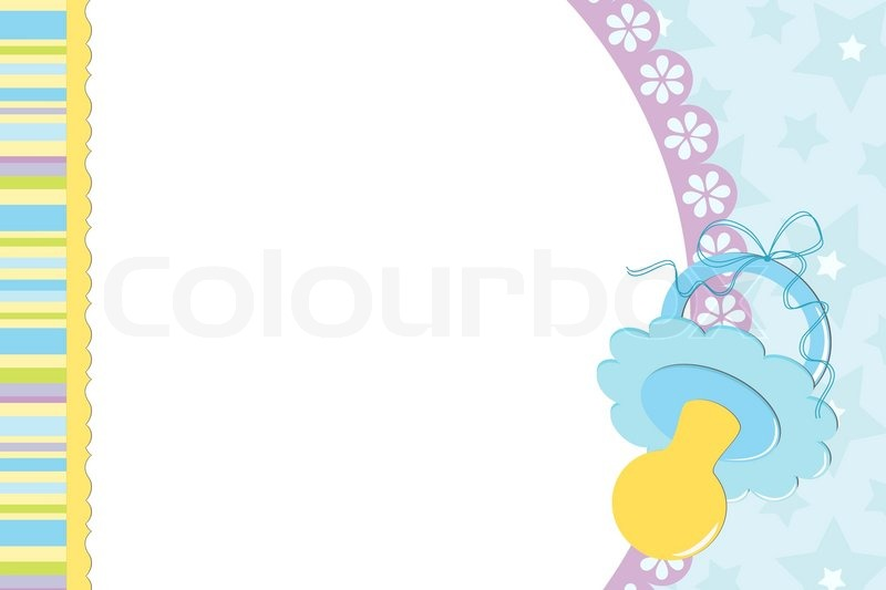 template for baby s photo album stock vector colourbox