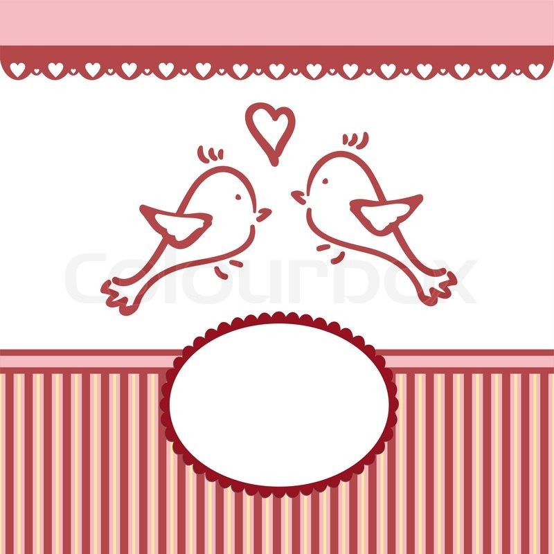 Template for Valentine or Wedding greetings card or postcard EPS10