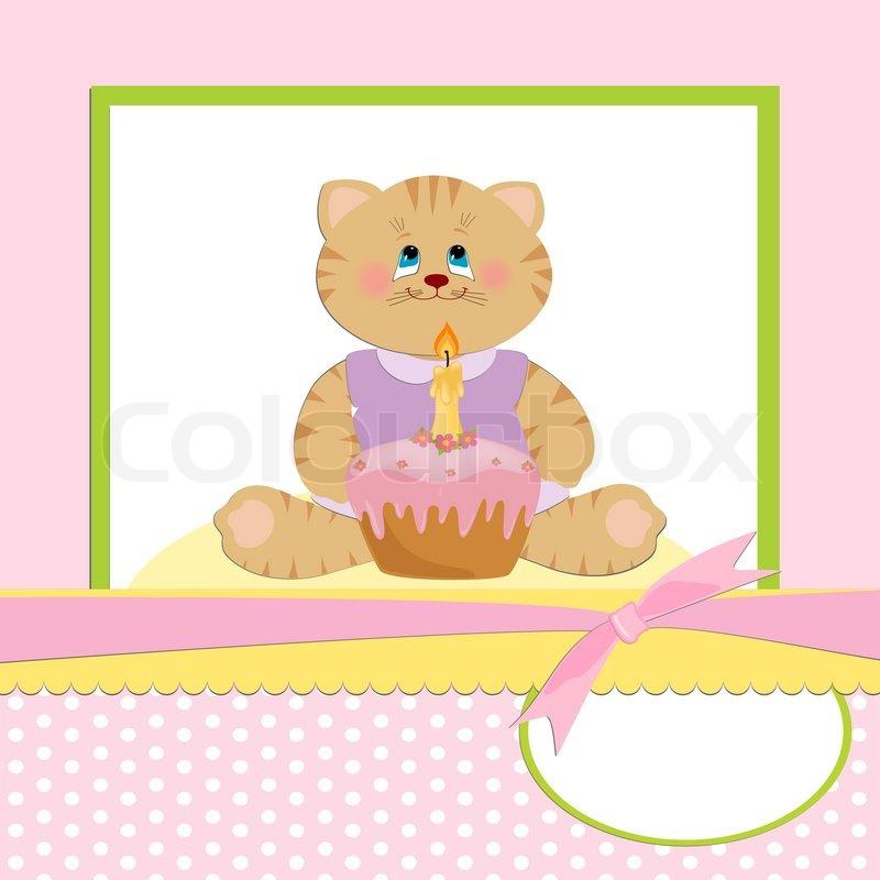1 års kort Baby hilsner kort til 1 års fødselsdag fejres | stock vektor  1 års kort