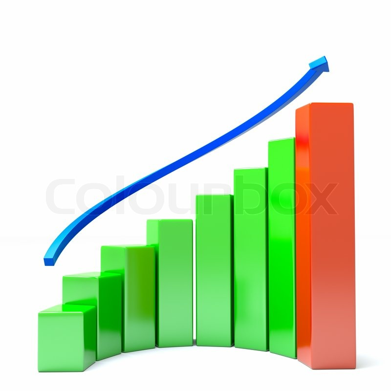 A diagram with arrow, business growth concept | Stock ...