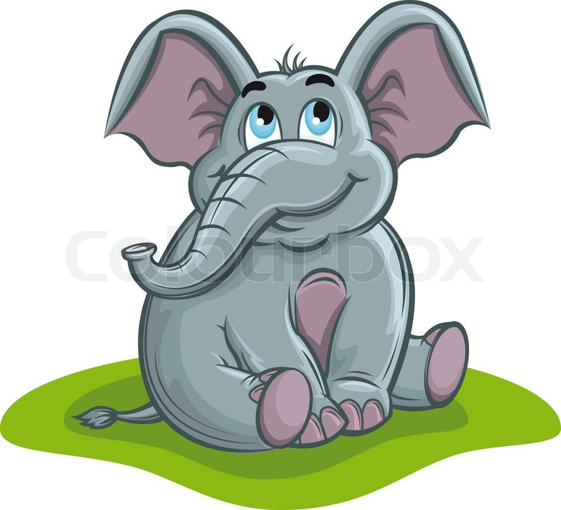 cute elephant baby in cartoon style stock vector
