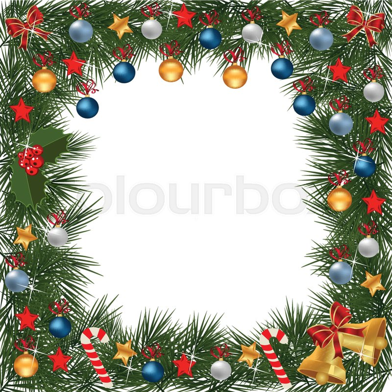 A Traditional Christmas Garland Made With Festive