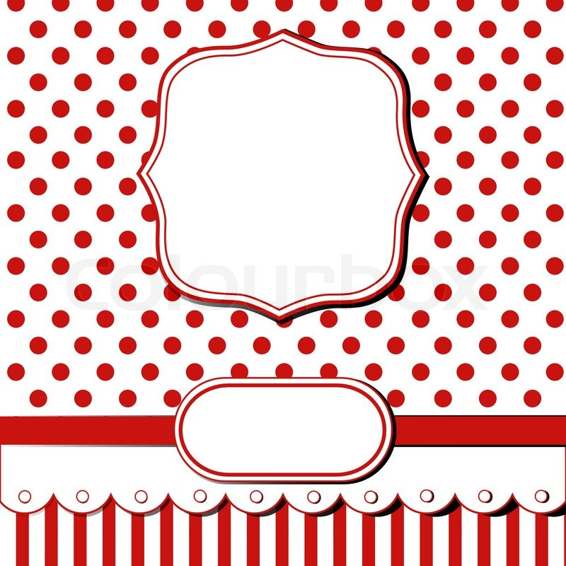 Scrap Template Of Pretty Christmas Vintage Design With Blank Space