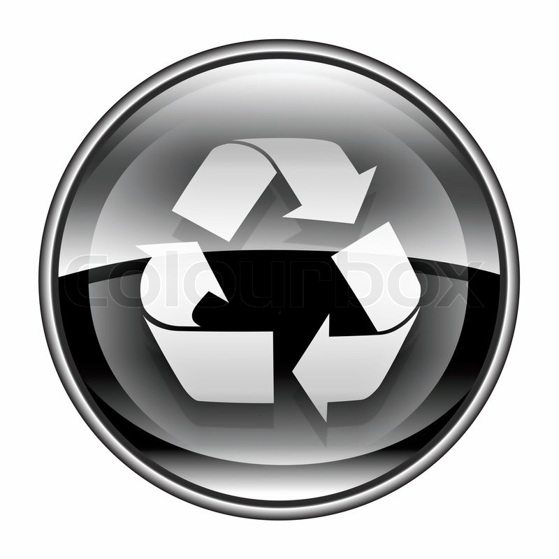 Cool Recycle Symbol Recycling Symbol Icon Black