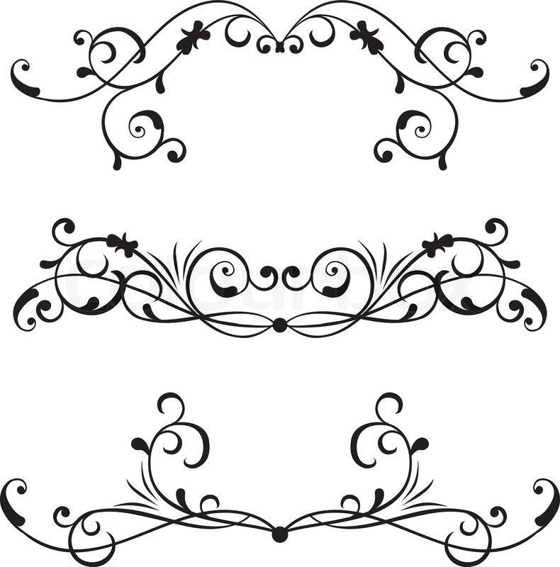 rahmen viktorianisch dekor vektorgrafik colourbox. Black Bedroom Furniture Sets. Home Design Ideas