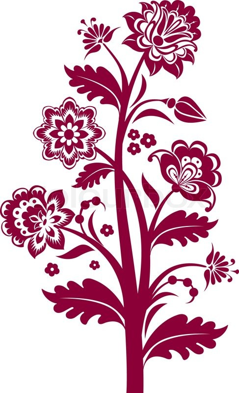 Vector Vintage Floral Background With Stock Vector Colourbox