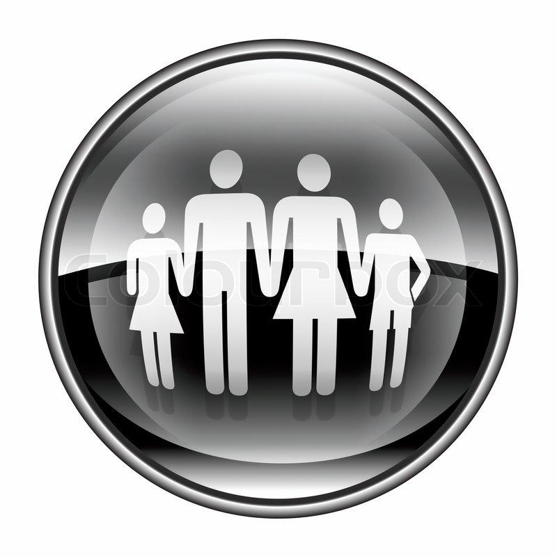 familie symbol schwarz isoliert auf wei em hintergrund stockfoto colourbox. Black Bedroom Furniture Sets. Home Design Ideas