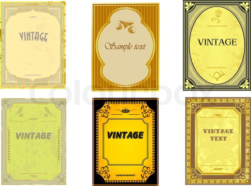sammlung von vintage vertikale etiketten vektorgrafik colourbox. Black Bedroom Furniture Sets. Home Design Ideas