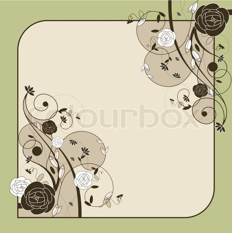 Stock vector of 'Romantic wedding card with roses vector illustration'