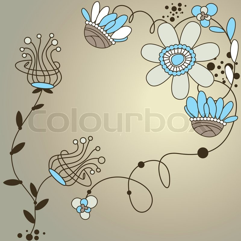 Abstract Cute Modern Floral Background Vector Illustration | Stock Vector |  Colourbox