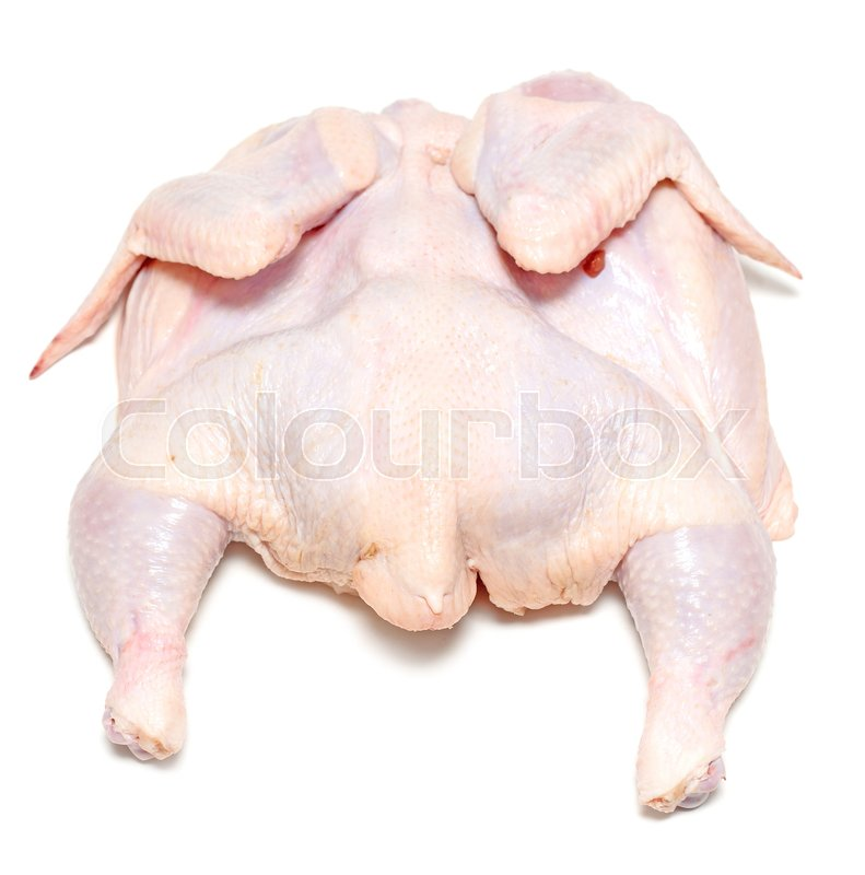 raw chicken isolated on white stock photo colourbox