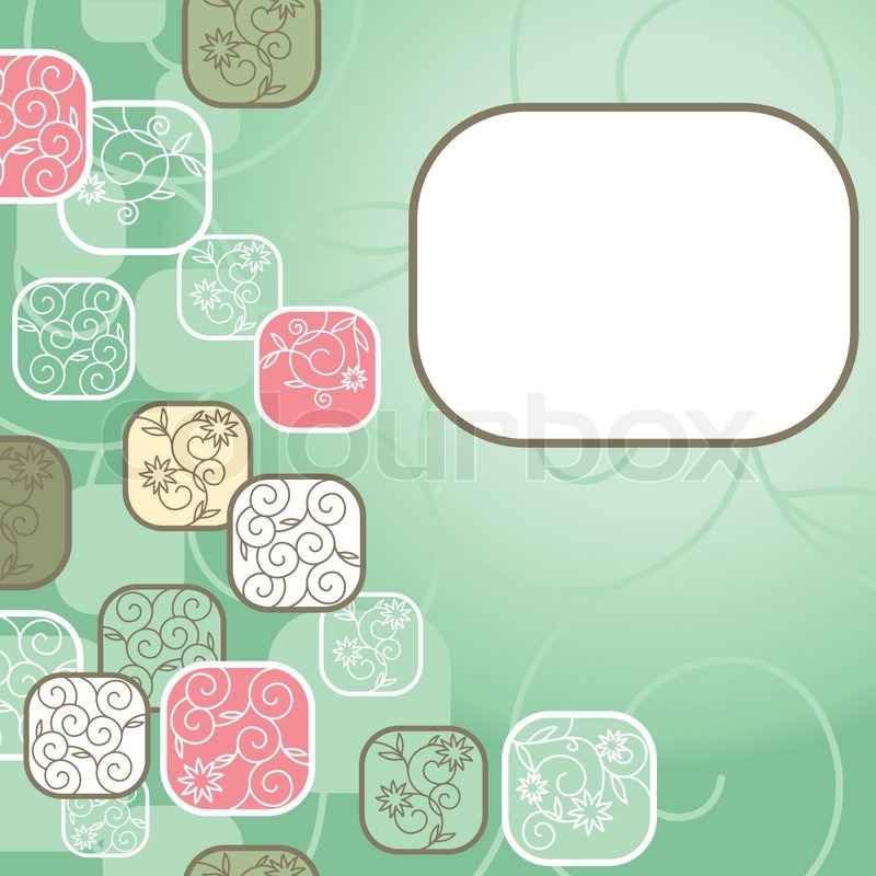 abstract cute background with free place for your text stock