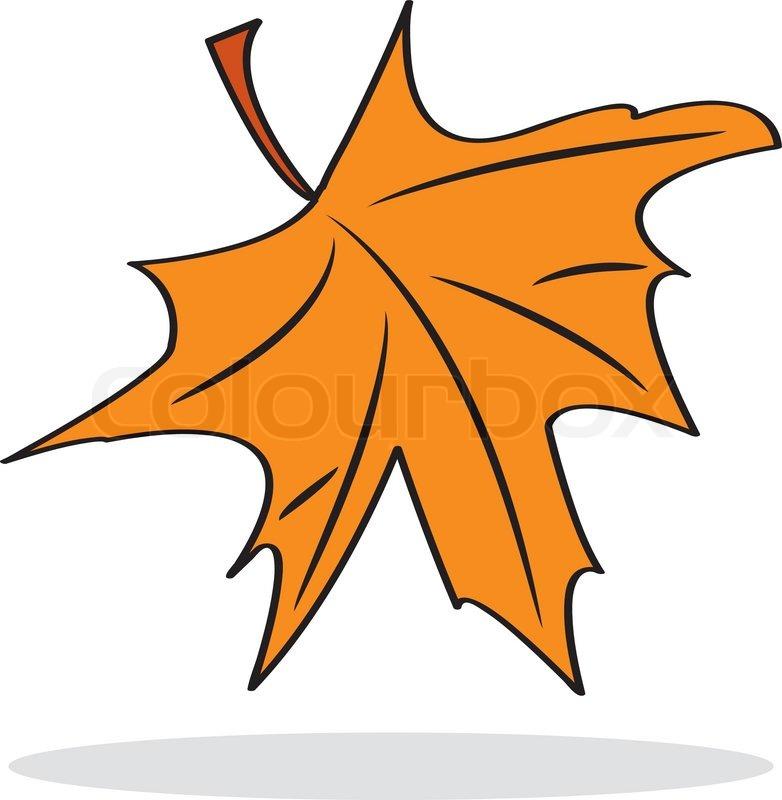Orange Maple Leaves Clip Art