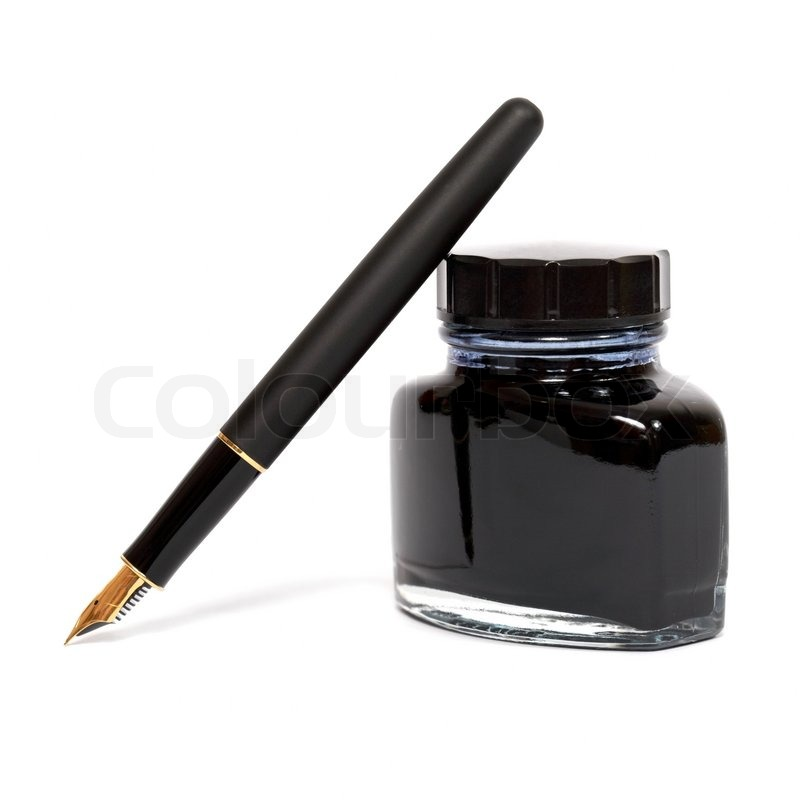 Fountain Pen With The Ink Bottle Stock Photo Colourbox