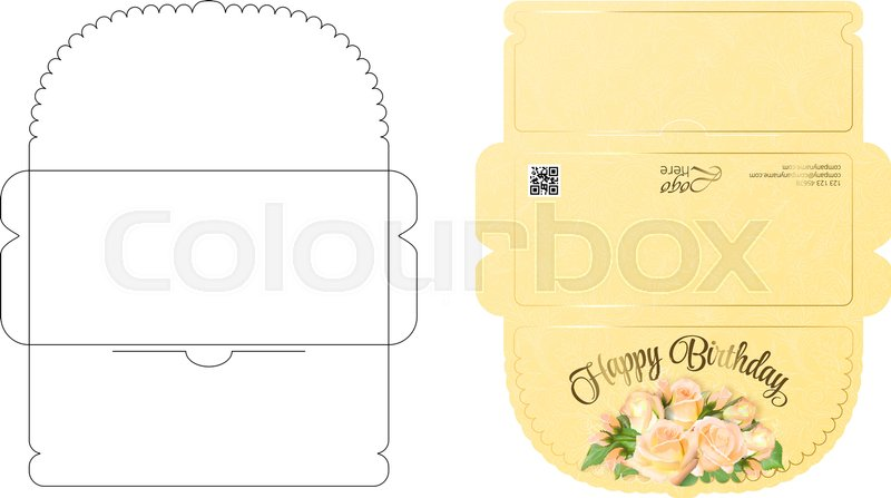 Envelope template with flap design. Easy to fold. Ready to print ...