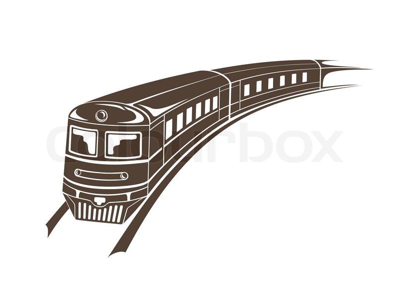 modern train simple vector illustration stock vector colourbox rh colourbox com train victoria to brighton train victoria to gatwick airport