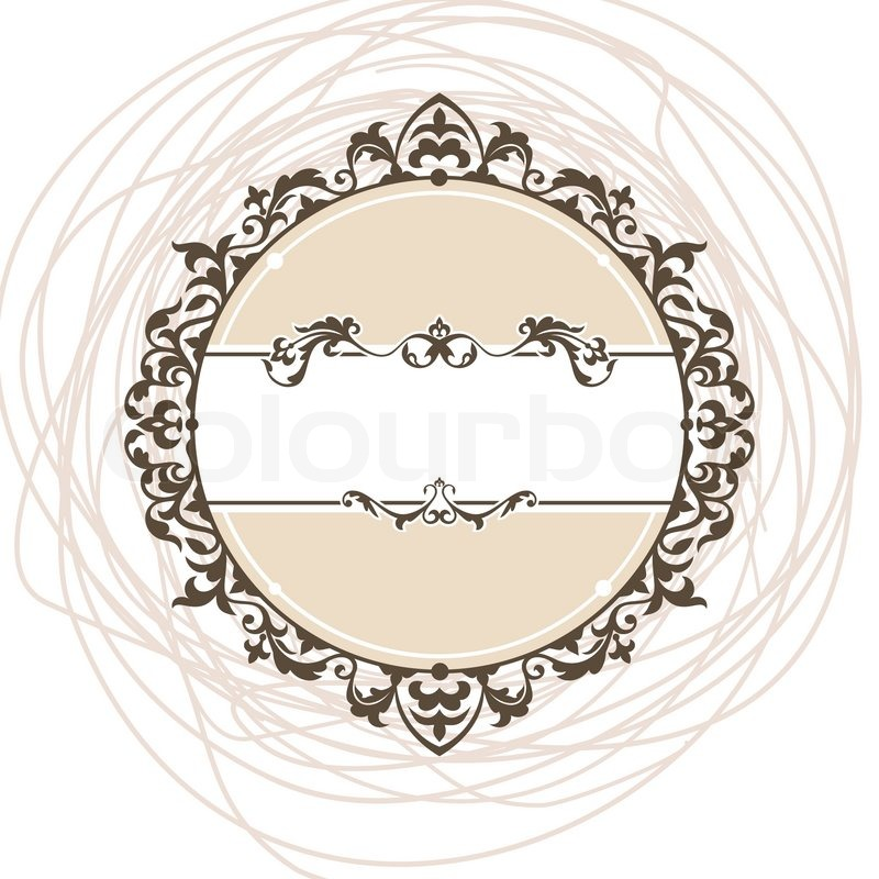 Abstract cute decorative vintage frame ...   Stock Vector ...