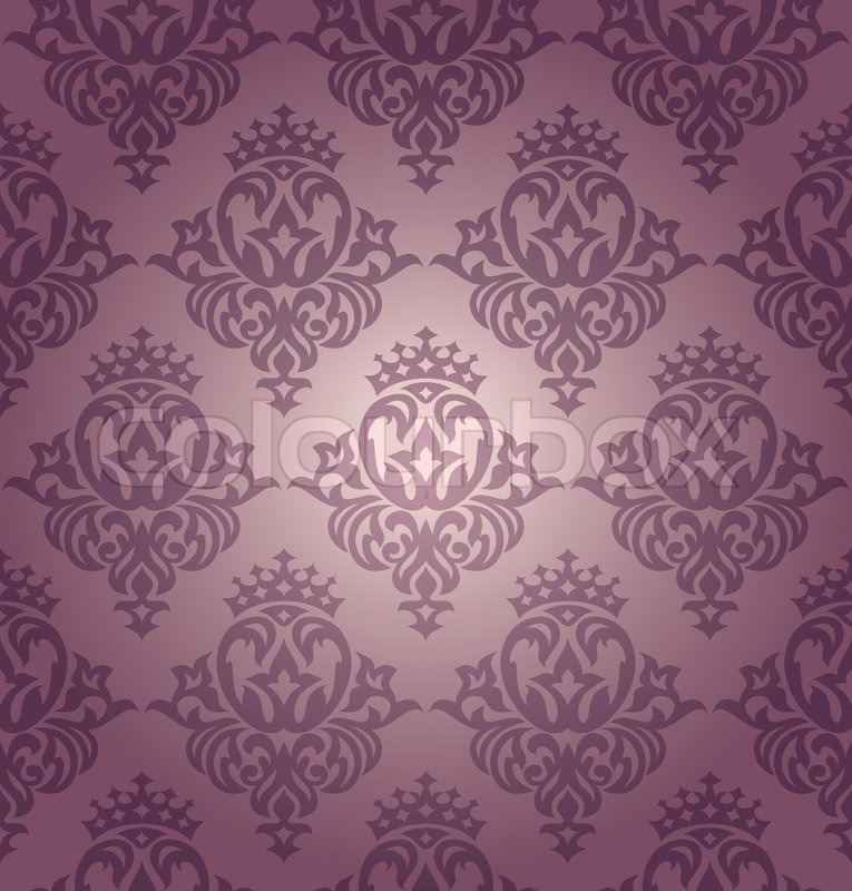 Abstract Seamless Damask Wallpaper Vector Illustration