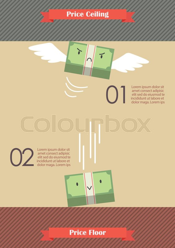 Price Ceiling And Price Floor Stock Vector Colourbox