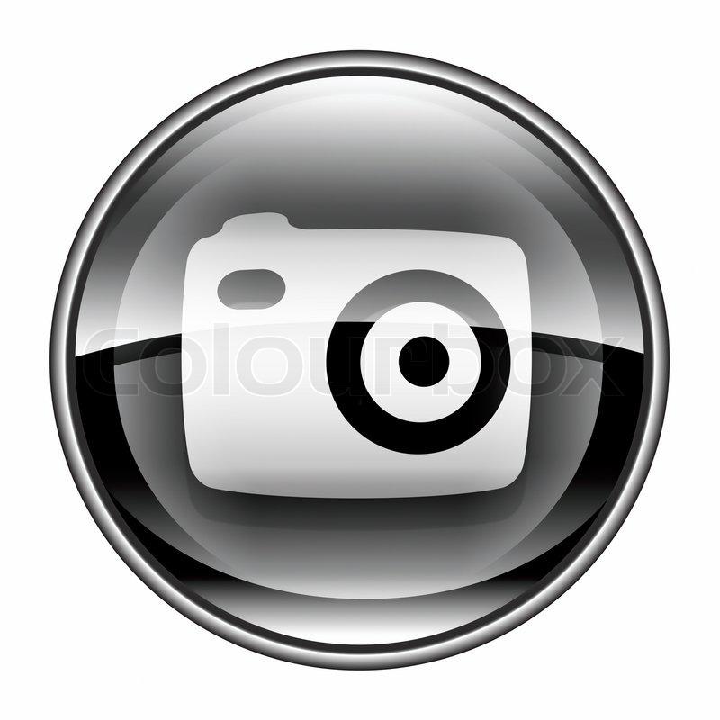 Camera icon black, isolated on white background | Stock ...