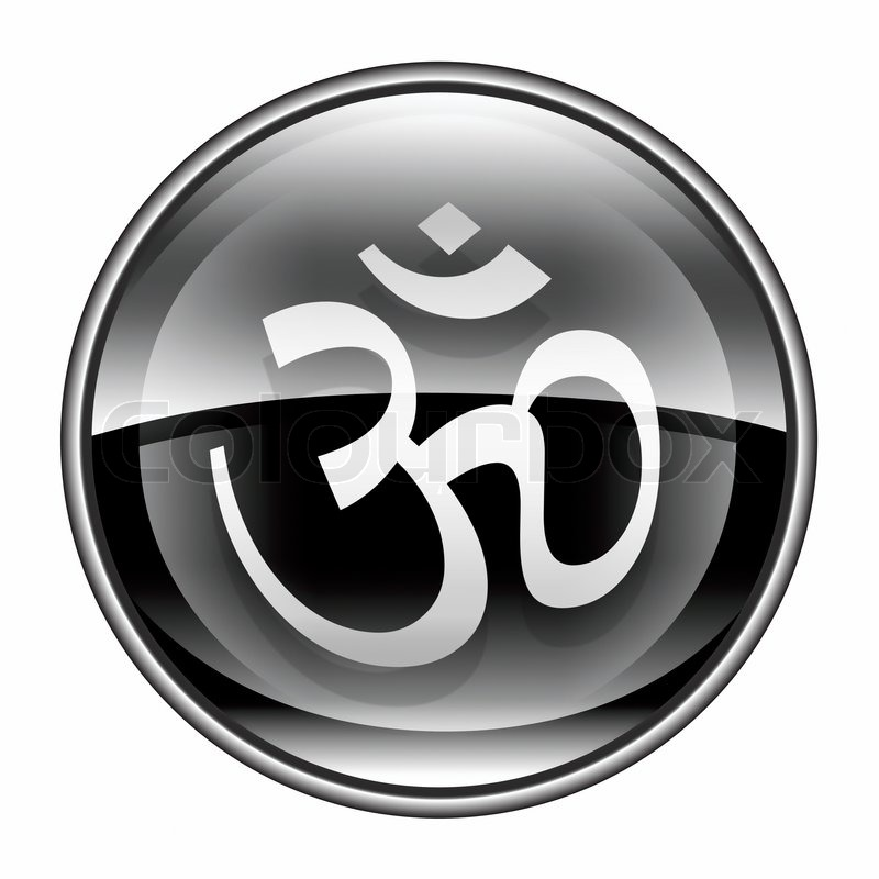 Om Symbol Icon Black Isolated On White Background Stock Photo