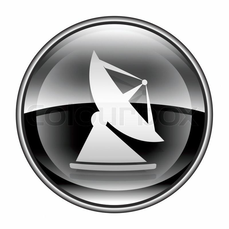Antenne Symbol schwarz, isoliert auf weißem Hintergrund | Stockfoto ...