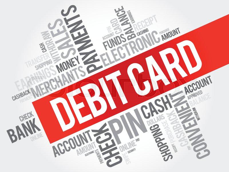 Debit card word cloud collage finance business concept background debit card word cloud collage finance business concept background vector reheart Choice Image