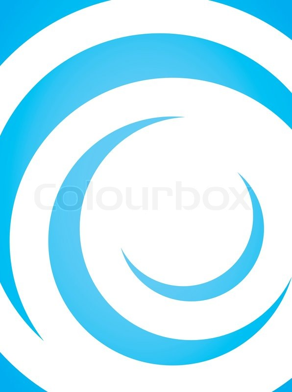 a simple blue vector layout with curling swoosh lines in a spiral rh colourbox com vector swoosh paint vector swoosh tutorial