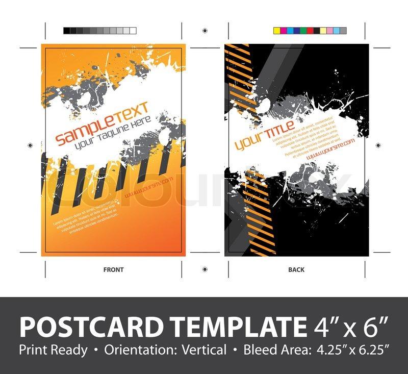 A hazard stripes postcard or direct mailer design template for Postcard mailer templates